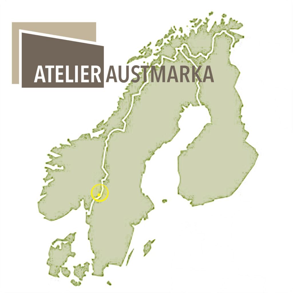 Atelier Austmarka im ländlichen Norwegen, direkt an der Grenze zu Schweden